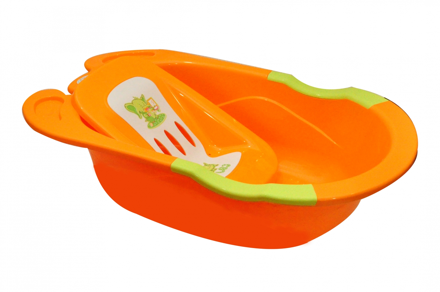 Bath Tub Orange - Baby Needs - Bath Tubs - Baby Lou - Baby Products ...