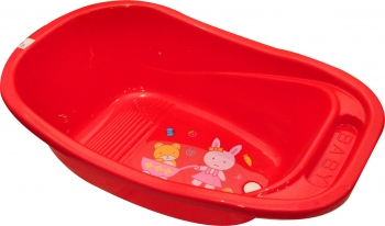 Bath Tub Cute - Red