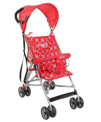 Luv Lap Sunshine Baby Buggy Stroller - Red